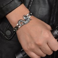Domineering twelve zodiac Stainless Steel Dragon bracelet 10...