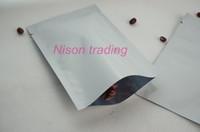 7 * 10 cm, 200 pcs en aluminium blanc sac plat chaleur-haut ouvert joint graine / riz en plastique plaine poche, sac de grain de café mylar métallique