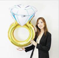43 인치 발렌타인 데이 선물 다이아몬드 반지 풍선 2017 새로운 패션 파티 웨딩 장식 다이아몬드 반지 풍선 제안 만들기