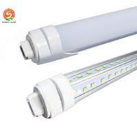 LED Shop Lights T8 R17D باب برودة الصمام أنبوب 5ft لمبة ضوء صفوف المزدوج SMD 2835 على شكل فولت أدى ضوء أنبوب 25 حزمة