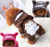 Ropa de perros de invierno Pijamas Drun Jumpsuit Invierno Monos de invierno para perros Venta más barata Multi-Choice Lindo Lindo Soft Coral Fleece Totoro H0017