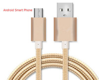 Metal Housing Braided Micro USB Cable Durable Tinning High S...