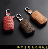 DHL 50pcs nouvelle mode véritable cuir de vachette sennit style voiture automobile à l'aide de porte-clés porte-clés porte-baguette portefeuille portefeuille cadeau de marque