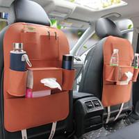 كبار نمط غير المنسوجة متعددة الوظائف شنقا مقعد منظم السيارة للخلف سعة التخزين 55 * 40CM
