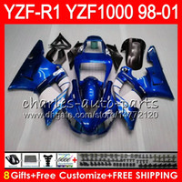 8Gift 23Color Body For YAMAHA YZF1000 YZFR1 98 99 00 01 YZF-...