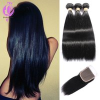 best selling Brazilian Straight Hair With Closure Human Hair...