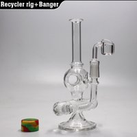 "8"" Recycler oil rig glass bong water pipe Inline perc d..."