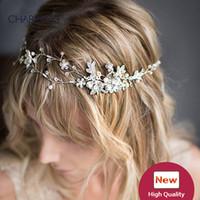 волосы короны ювелирных изделия уникального волос аксессуары для новобрачных диадем кристаллов жемчуг свадьба диадемы дешевых свадебных лоз цветка волос