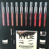 New Arrivel KYLIE Holiday Edition Big Box comprend 10 couleurs brillant à lèvres, palette d'ombres, ombre à la crème, eye linner KYLIE Set Hot Selling