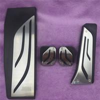 غير الحفر! غاز الوقود الفرامل مسند دواسة لوحة الوسادة MT لسيارات BMW الجديدة 1 2 3 4 5 6 7 سلسلة GT X3 X4 Z4 F30 F31 F34 LHD أغطية السيارات