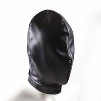 أقنعة الكلب المرح الجنس مضحك اسود مثير الناعمة الوثن PU جلدية القيود قبعة هود قناع الرجال جنس لعب