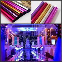 Luxe mariage Aisle Runner Tapis Centres de table Miroir pour le mariage T station Décoration Or Argent Violet Rose Couleur rouge Disponible