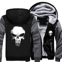 USA Size The Punisher Hoodies Unisex Anime Warm Hooded Men L...