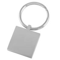 IJK0037 Carré 23mm * 23mm en acier inoxydable Blank Key Metal Card Card Graver porte-clés