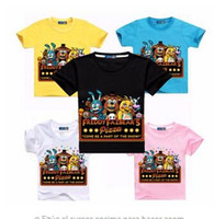 Boys Clothes Cartoon Children T Shirts Five Nights At Freddy...