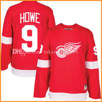 ddf21da97 Detroit Red Wings 9  Gordie Howe Hockey Jersey Men s Embroidery And 100%  Stitched Gordie Howe CCM NHL Jerseys