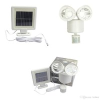 PIR Motion Sensor 22 LED Solar Light Rotable Two Heads Water...