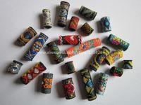 Livraison gratuite 15Pcs / Lot mix tissu tresse dread dreadlock perles clips manchette environ 8-12mm trou