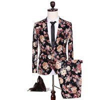 Wholesale- size M-5XL 2015 the arrival of the new high quality printing plus-size suit Leisure suit The groom dress