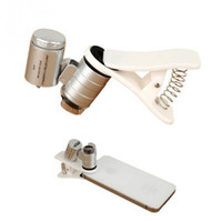 Универсальный 60X оптический зум клип телескоп камера микроскоп объектив для мобильного телефона объектив с 3 LED свет клип широкоугольный мини-лупа