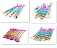 2017 Newest 5pcs Mermaid Makeup Brush 11pcs 15pcs Colorful M...