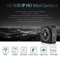 H5 Wifi Wearable IP-Kamera 720P HD 150 Grad-Weitwinkelobjektiv Mini-Kamera drahtlose P2P Körper Kamera-Nachtsicht Mini-DV-Camcorder