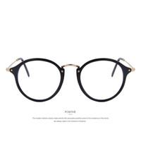 MERRY'S Moda Feminina Limpar Lens Eyewear Unisex Retro Óculos Claros Quadro Oval Metal Templos