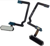 الأصلي جديد استبدال زر القائمة الرئيسية مفتاح بصمة الاستشعار فليكس كابل لسامسونج غالاكسي s5 i9600 g900a g900v g900f أبيض أسود الذهب