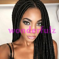 New Arrival 18 inch dreadlock hair extensions synthetic faux...
