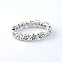 Anelli Star Cubic Zircon S925 Sterling Silver adatti per bracciale stile originale e gioielli in Charms per le donne 190974cz H9