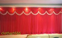 3 متر * 6 متر خلفية backcloth الزفاف مع سوجس حزب الستار حفل زفاف المرحلة الاحتفال خلفية مرحلة التخرج القماش الخلفي