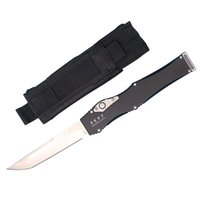 High End ANDY AUTO Tactical Knife D2 Tanto Satin Blade T6061...