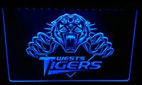LS2997- b Wests Tigers LED Neon Light Sign Decor Free Shippin...