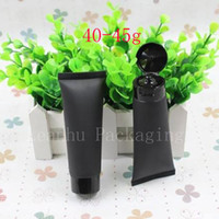 45g Empty Black Soft Tube For Cosmetics Packaging, Sample 45M...