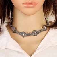 Chaud Boho Collier Ras de Cou Argent Collier déclaration bijoux pour les femmes Fashion Vintage style ethnique Bohemia Turquoise Perles cou