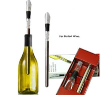 Stainless Steel Wine Cooling stick Corkcicle White & Red Win...