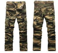 Nedensel Pantolon Erkekler Spor Kargo Pantolon Kamuflaj Baskılı Erkek Giyim Giyim Tasarım Uzun pantolonlar Pockets