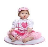 22 pulgadas 55 cm tela Reborn Reborn Baby Silicone Vinyl Dolls Hecho a mano realista recién nacido encantador regalo