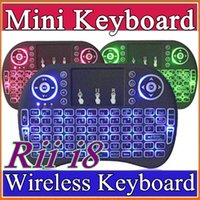 10X Rii I8 Mini Keyboard Wireless Backlight Green Blue Red L...