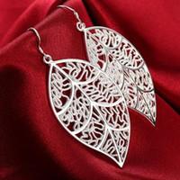 Toptan Satış - En düşük fiyat Noel hediyesi 925 Ayar Gümüş Moda Küpe E128