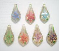10pcs / lot Multicolore murano Pendentifs En Verre De Murano Pour DIY Artisanat De Mode Bijoux Cadeau Livraison Gratuite PG10