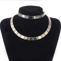 High Quality Flat Chain Necklace Bracelet Jewelry Sets for w...