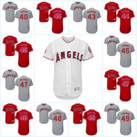 2017 Los Angeles Angels Jersey 37 Andrew Bailey 39 Kirby Yates 40 Jesse Chavez 43 Garrett Richards 44 Ryan LaMarre Flexbase Onfiled Jersey