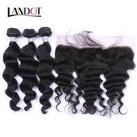 Ear to Ear Lace Frontal Closure With 3 Bundles Brazilian Loo...