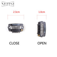 Neitsi Hot 2. 3cm Metal I Shape Snap Clips For DIY Clip In Ha...