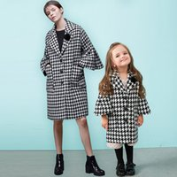 Mother and Daughter Clothes Fall Winter Coat Long Sleeve Hou...