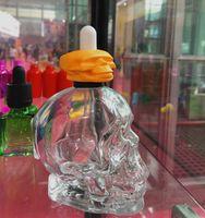 Стеклянная бутылка капельницы vape черепа 120ml e жидкостная бутылка ясная пипетка 4 унций для e жидкого косметического эфирного масла