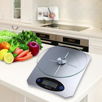 5kg / 11lbs x 1 g / 0.1oz digitale keuken schaal glas Top Voedsel Dieet Schaal Home Ke-5