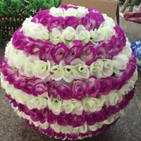 10 zoll 25 CM blume ball Hochzeit seide Küssen Ball dekorieren blume künstliche blume hochzeit gartenmarkt party dekoration DHL freies HQ003