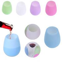 سيليكون النبيذ الأحمر الزجاج ستيمس غير قابلة للكسر طوي زجاجة بيرة مياه الشرب كأس القدح المنزل مفيدة الملحقات سعر المصنع